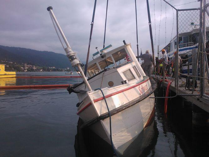 Verheerender Sturm versenkt das Schiff